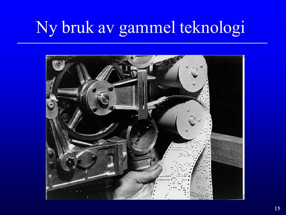 Ny bruk av gammel teknologi