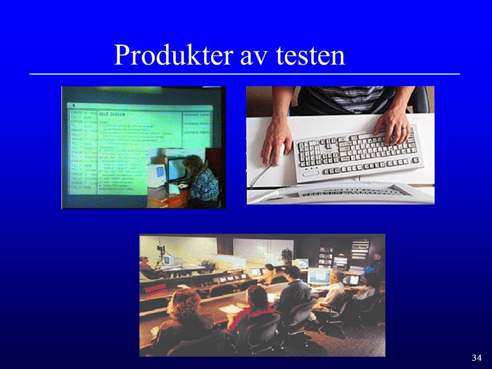 Produkter av testen