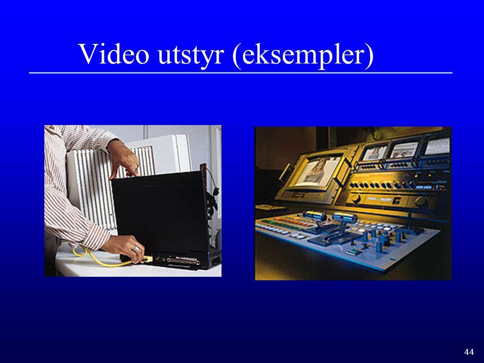 Video utstyr (eksempler)