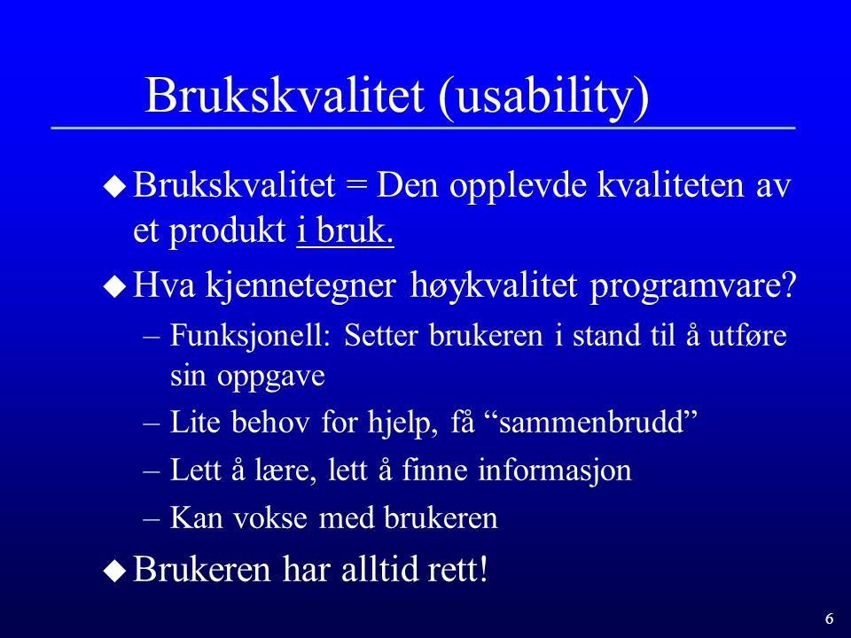 Brukskvalitet (usability)