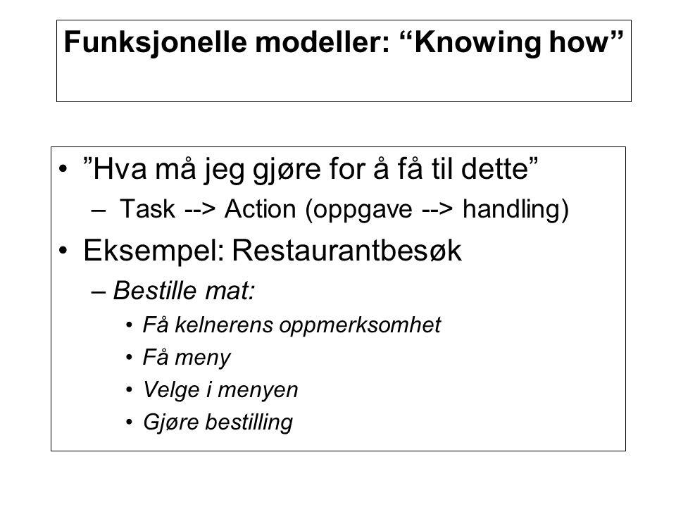 Funksjonelle modeller: Knowing how