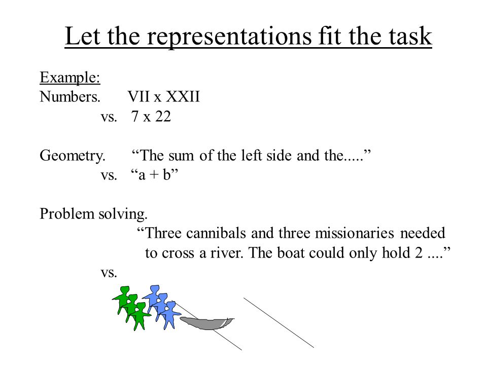 Let the representations fit the task