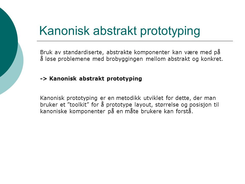 Kanonisk abstrakt prototyping