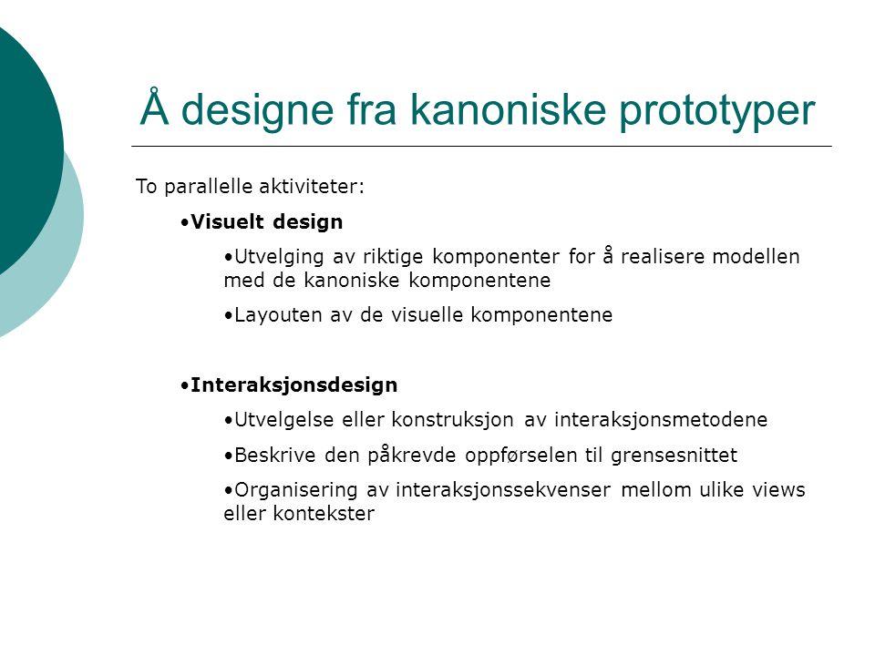 Å designe fra kanoniske prototyper