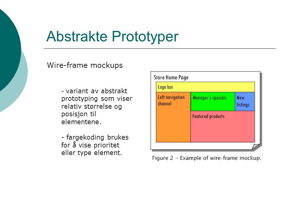 Abstrakte Prototyper Wire-frame mockups