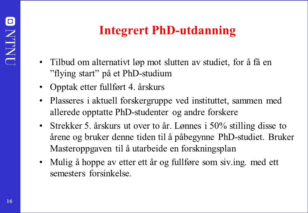 Integrert PhD-utdanning