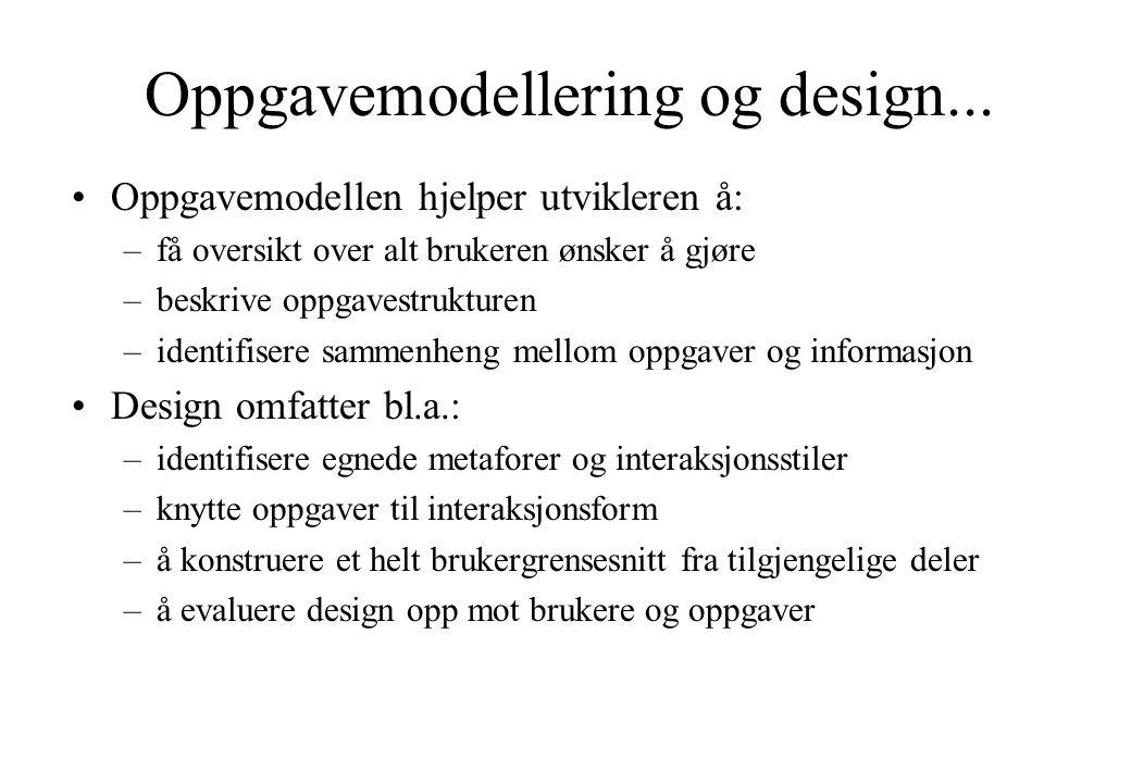 Oppgavemodellering og design...