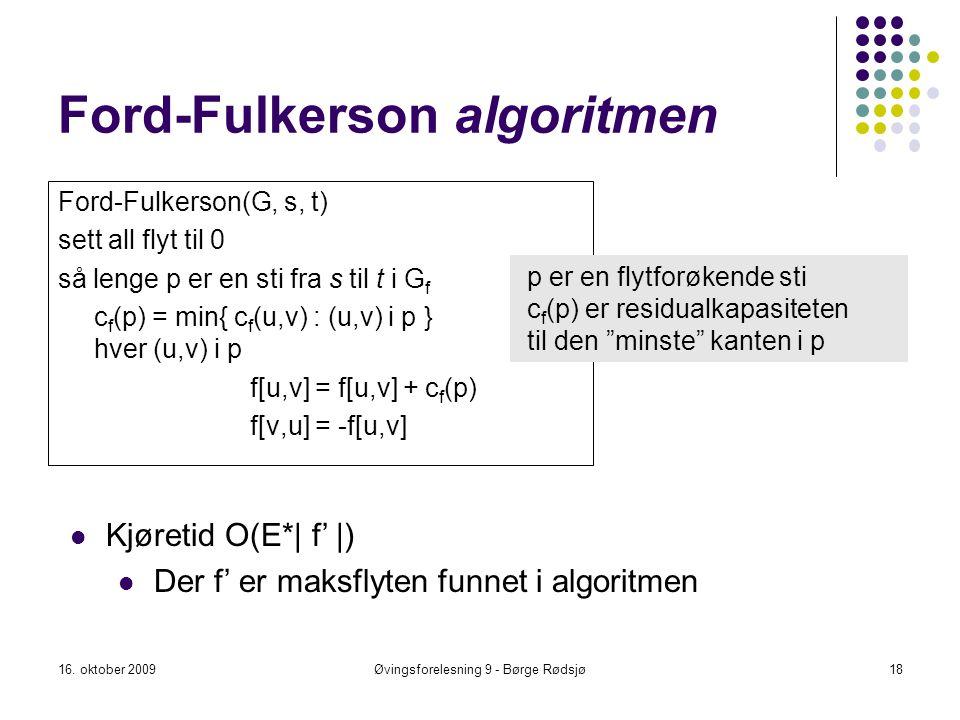 Ford-Fulkerson algoritmen