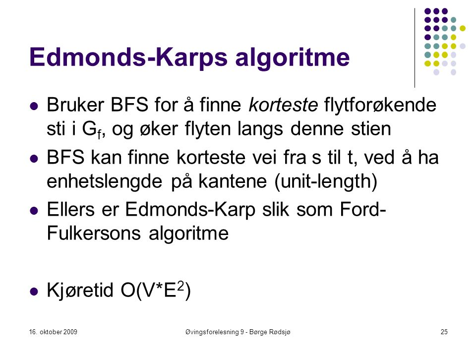 Edmonds-Karps algoritme