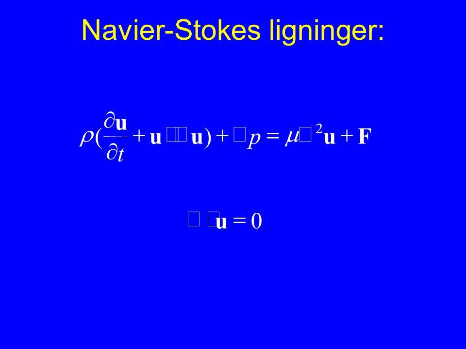 Navier-Stokes ligninger: