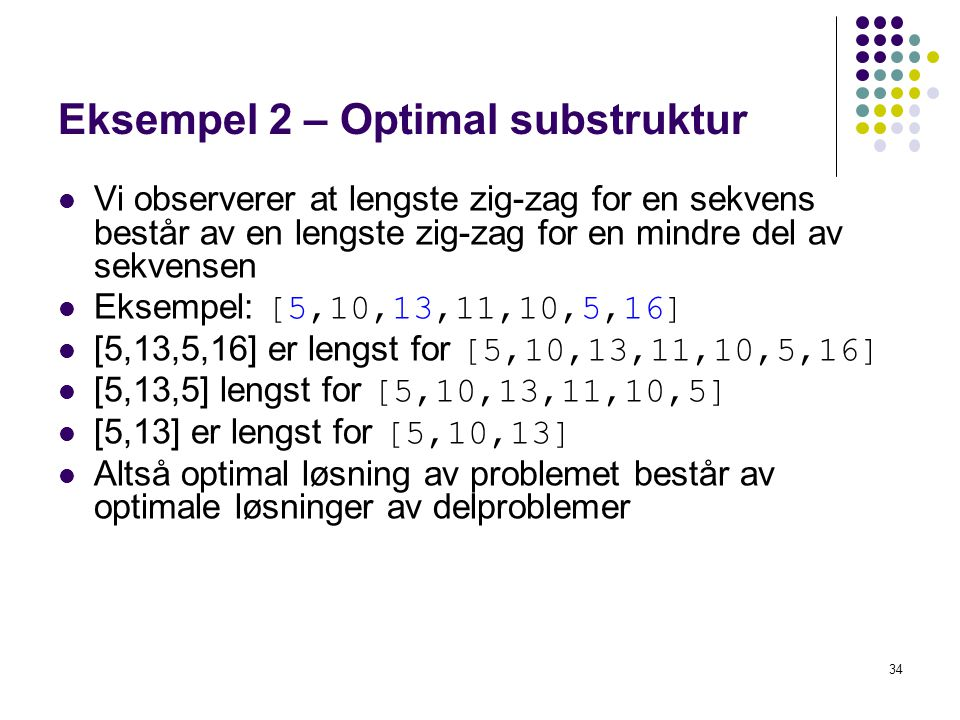 Eksempel 2 – Optimal substruktur