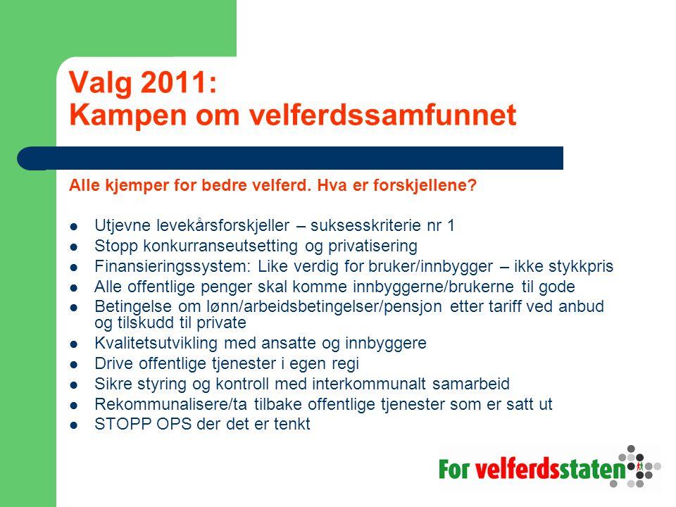 Valg 2011: Kampen om velferdssamfunnet