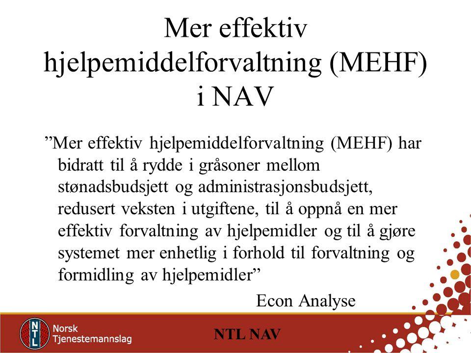 Mer effektiv hjelpemiddelforvaltning (MEHF) i NAV