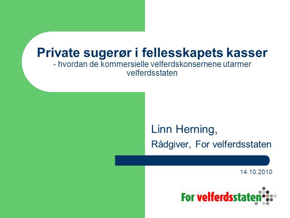 Linn Herning, Rådgiver, For velferdsstaten