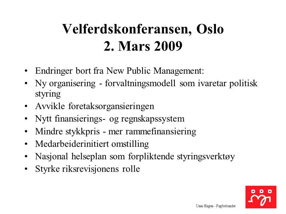 Velferdskonferansen, Oslo 2. Mars 2009