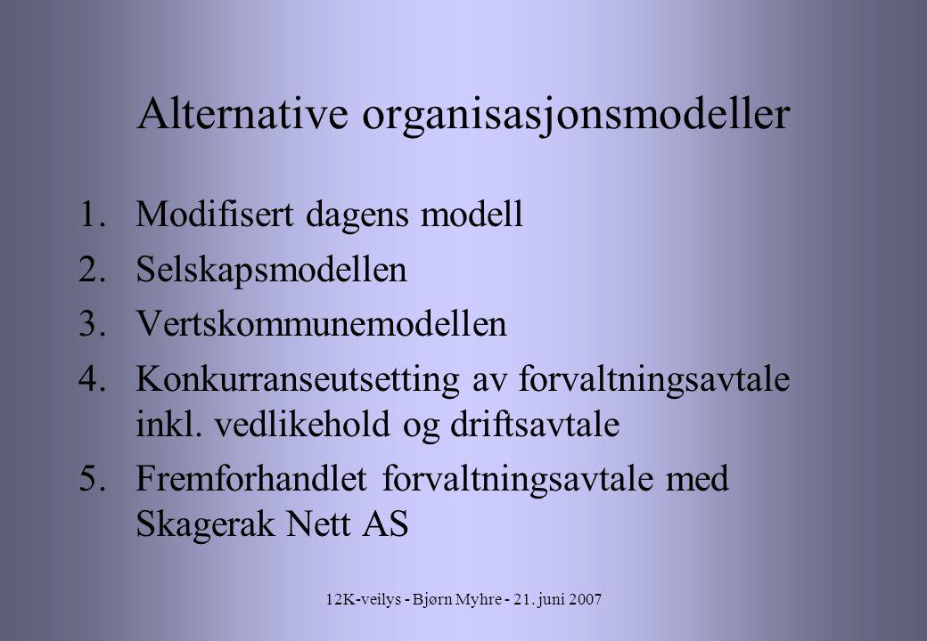 Alternative organisasjonsmodeller