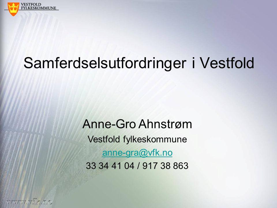 Samferdselsutfordringer i Vestfold