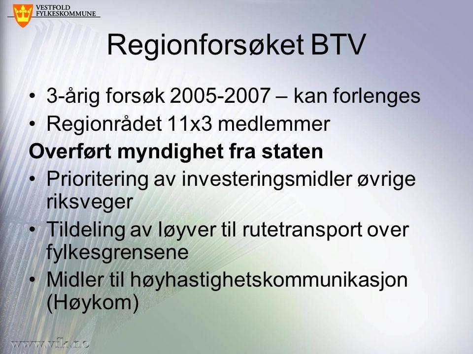 Regionforsøket BTV 3-årig forsøk 2005-2007 – kan forlenges