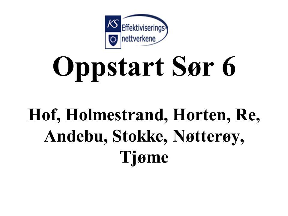 Oppstart Sør 6 Hof, Holmestrand, Horten, Re, Andebu, Stokke, Nøtterøy, Tjøme