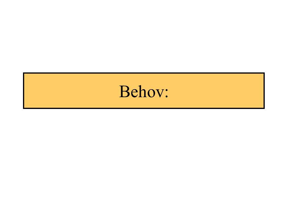 Behov:
