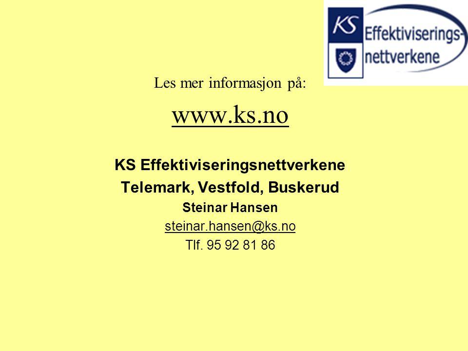 KS Effektiviseringsnettverkene Telemark, Vestfold, Buskerud