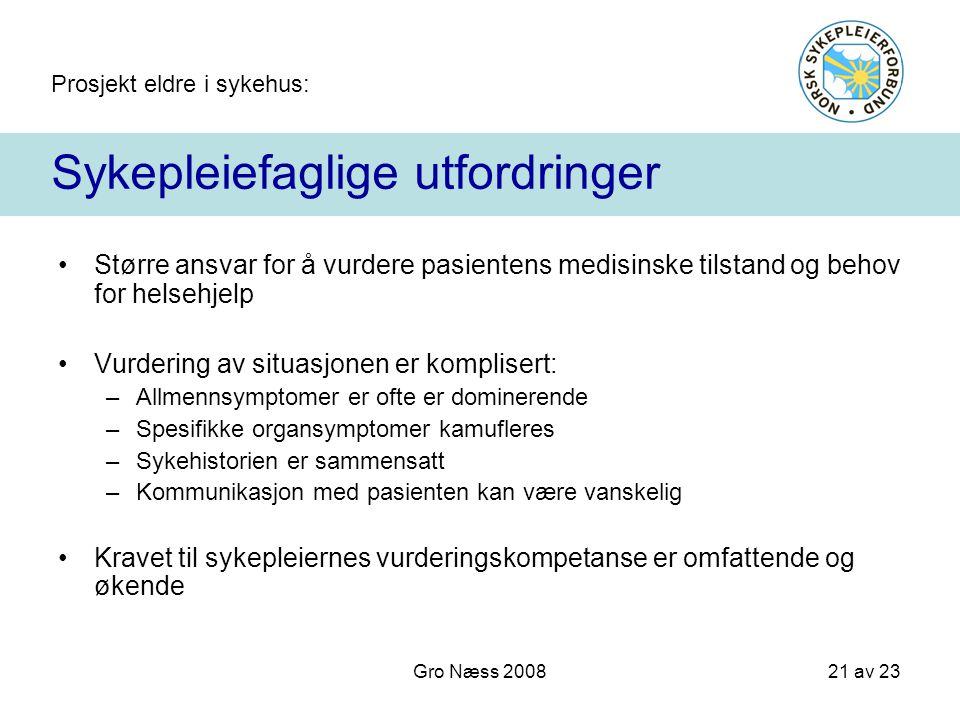 Sykepleiefaglige utfordringer