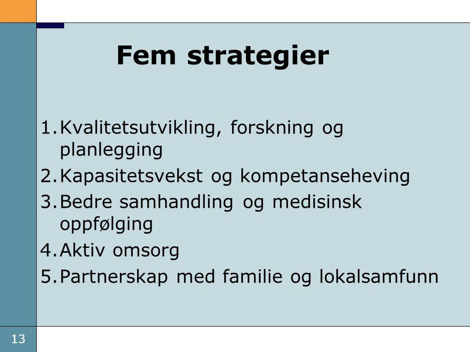 Fem strategier Kvalitetsutvikling, forskning og planlegging