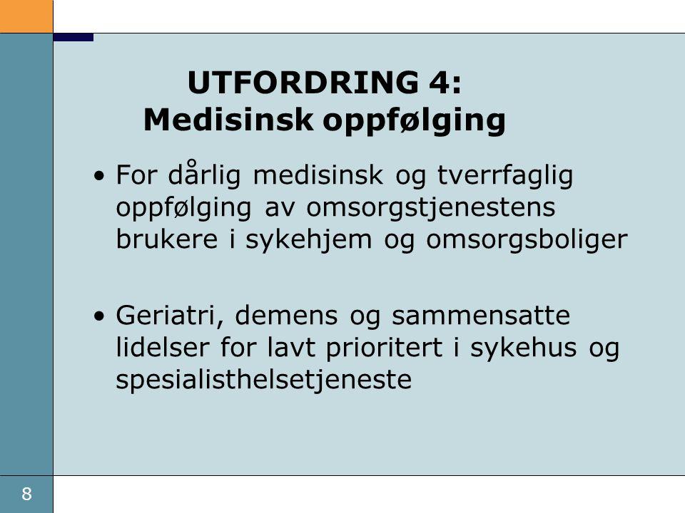 UTFORDRING 4: Medisinsk oppfølging