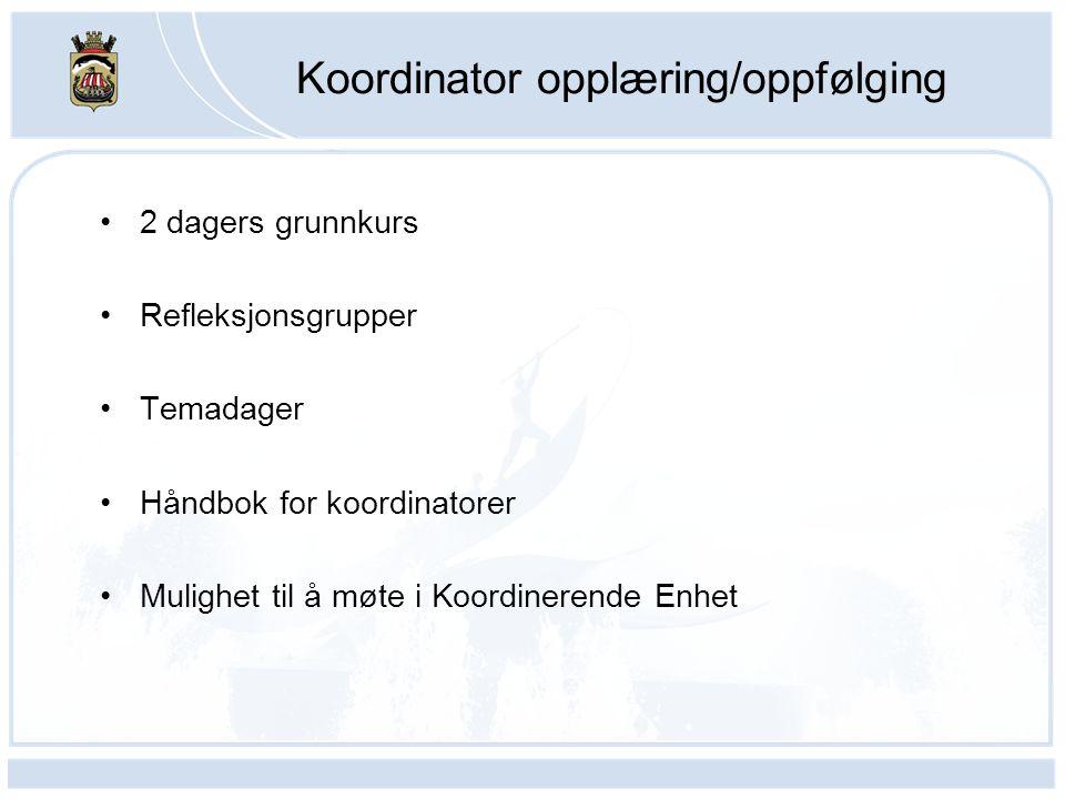 Koordinator opplæring/oppfølging