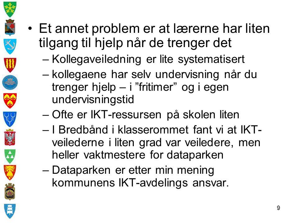 Et annet problem er at lærerne har liten tilgang til hjelp når de trenger det