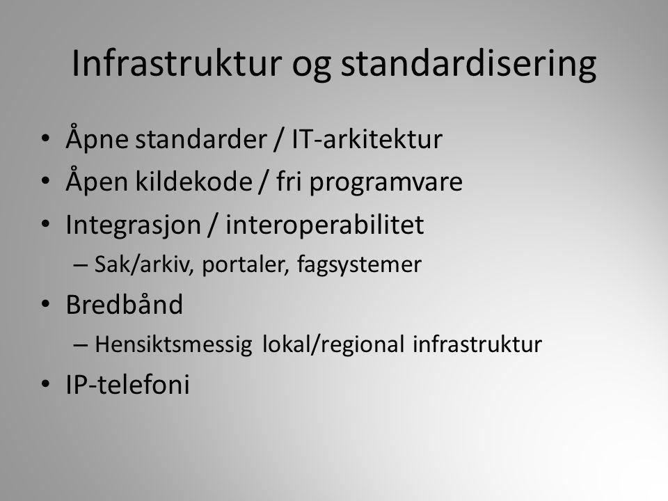 Infrastruktur og standardisering