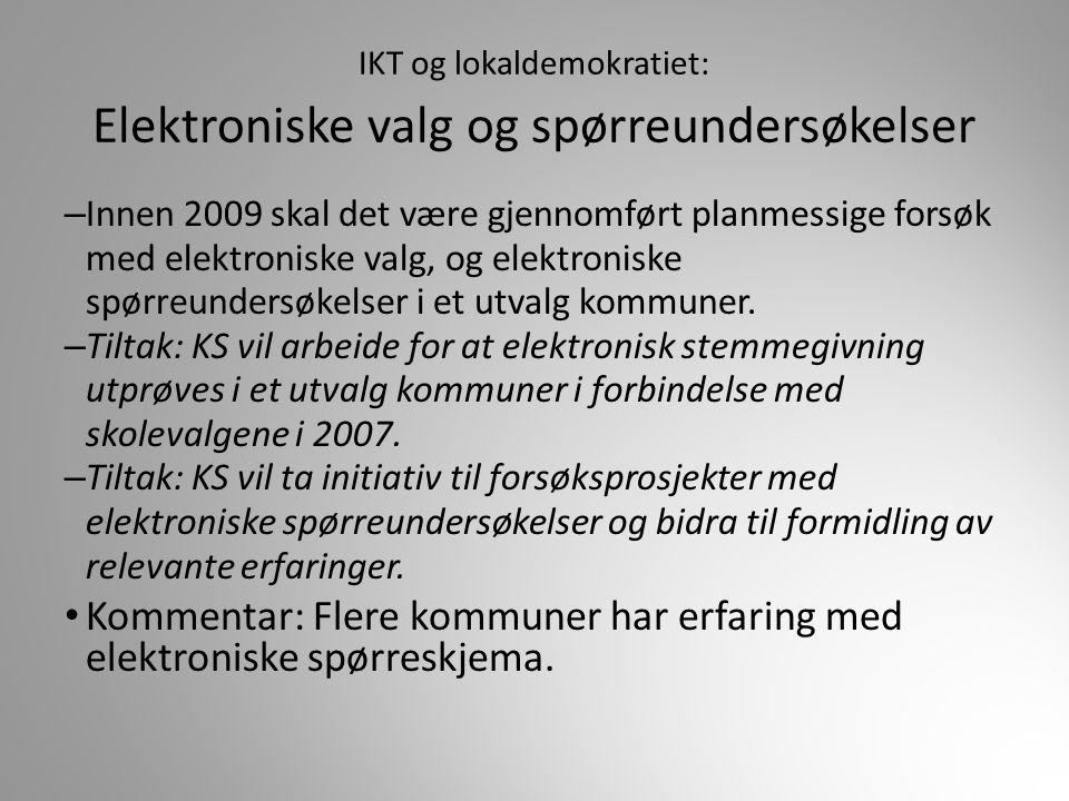IKT og lokaldemokratiet: Elektroniske valg og spørreundersøkelser