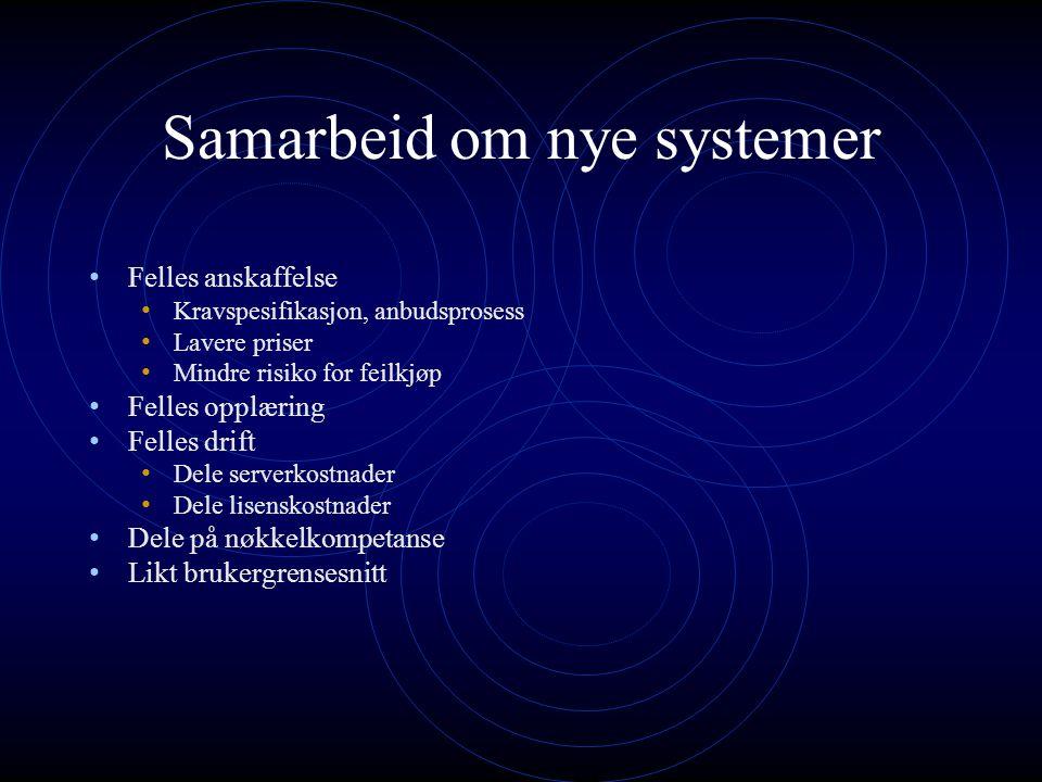 Samarbeid om nye systemer
