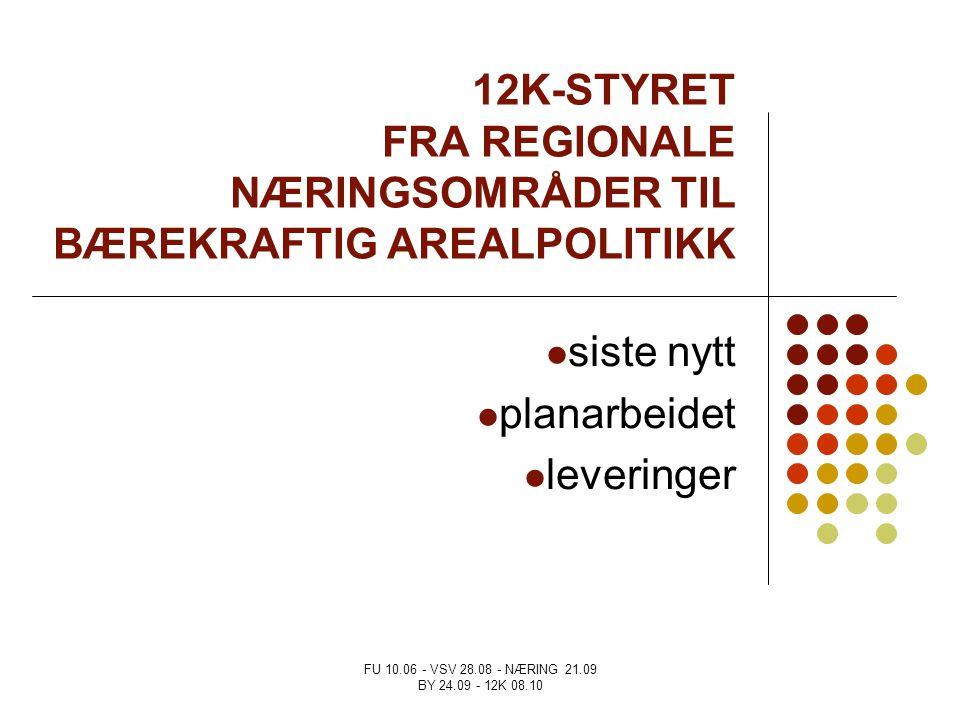12K-STYRET FRA REGIONALE NÆRINGSOMRÅDER TIL BÆREKRAFTIG AREALPOLITIKK