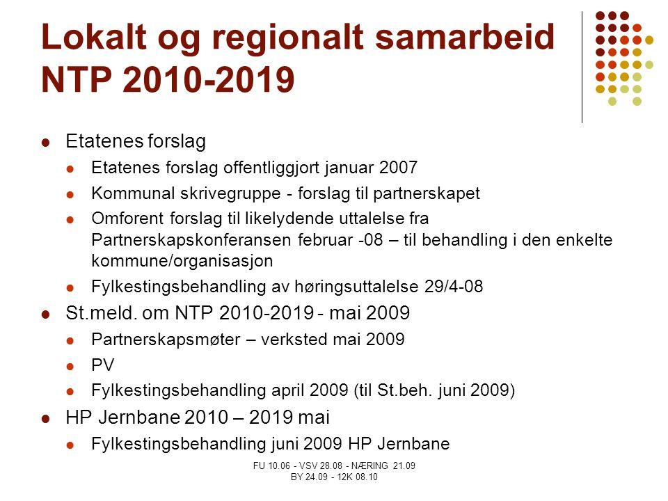 Lokalt og regionalt samarbeid NTP 2010-2019