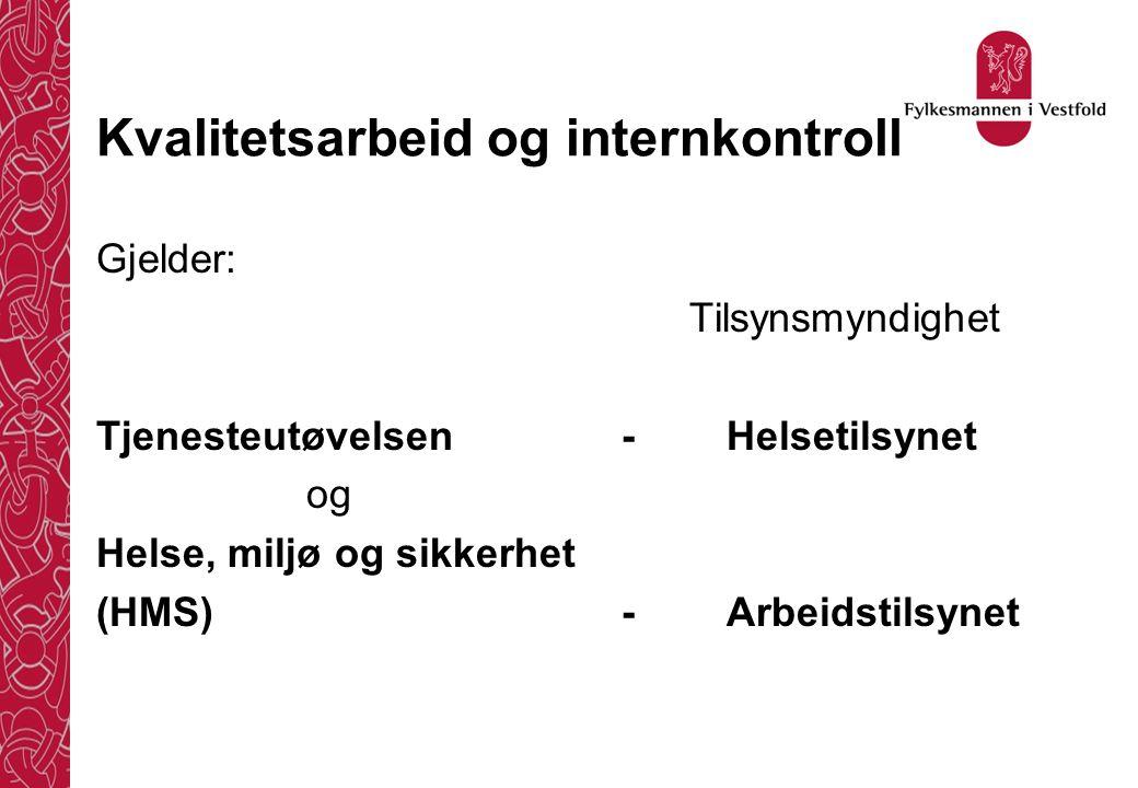 Kvalitetsarbeid og internkontroll