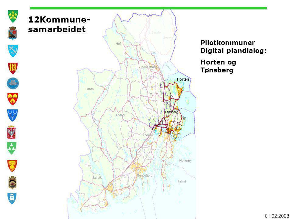 12Kommune- samarbeidet Pilotkommuner Digital plandialog: