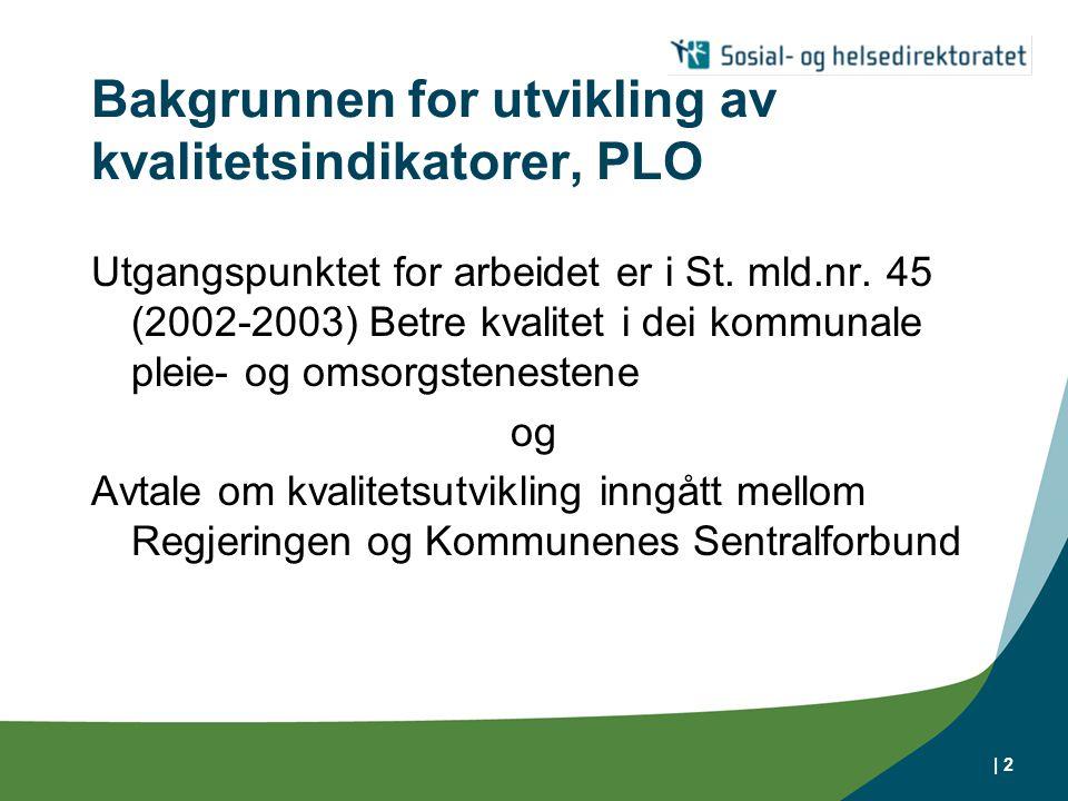 Bakgrunnen for utvikling av kvalitetsindikatorer, PLO