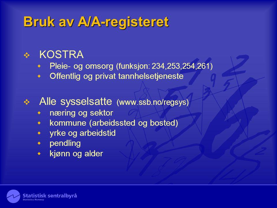 Bruk av A/A-registeret
