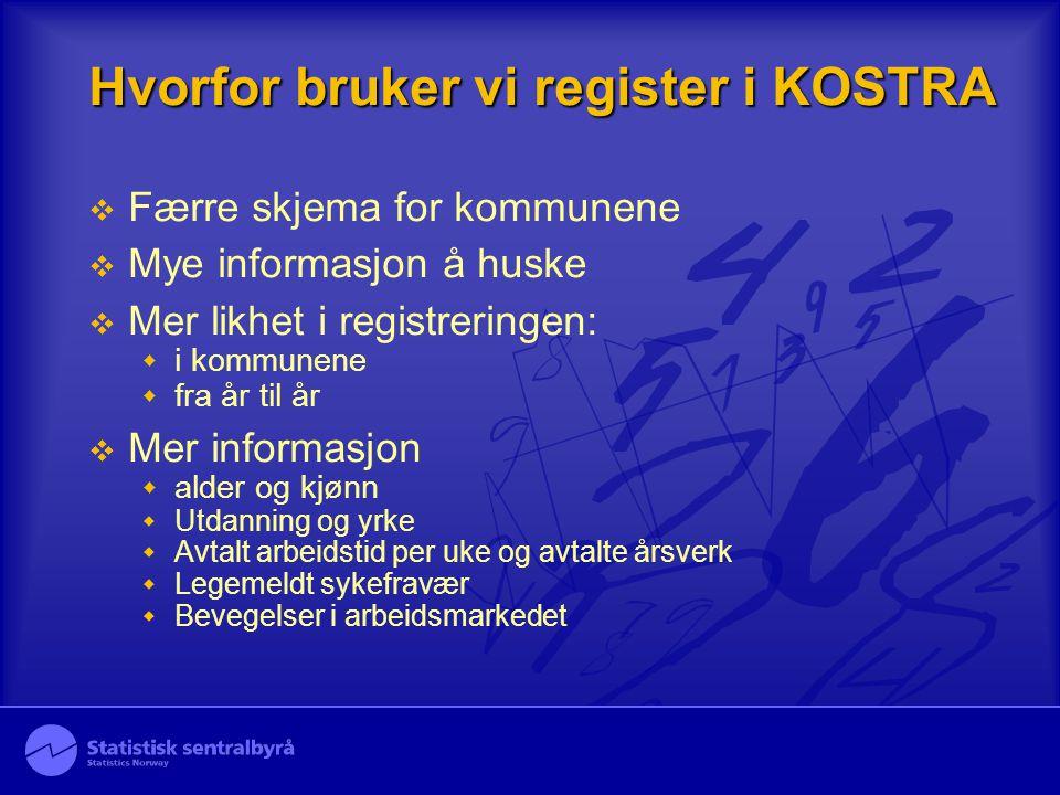 Hvorfor bruker vi register i KOSTRA