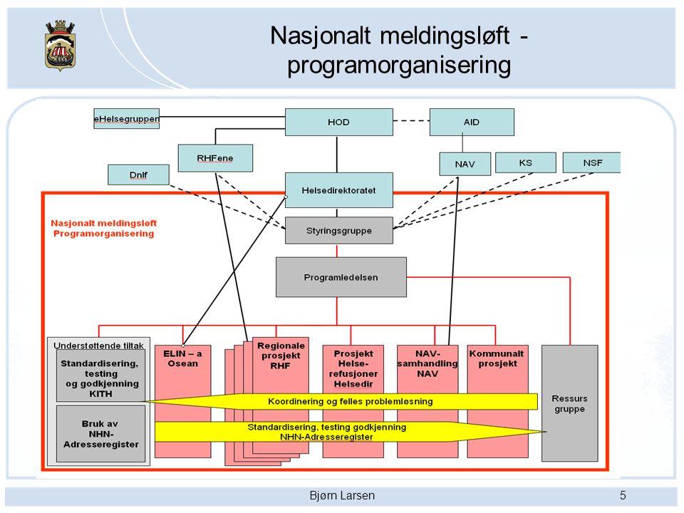 Nasjonalt meldingsløft - programorganisering