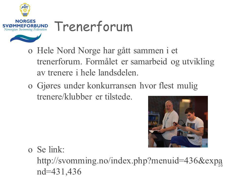 Trenerforum Hele Nord Norge har gått sammen i et trenerforum. Formålet er samarbeid og utvikling av trenere i hele landsdelen.