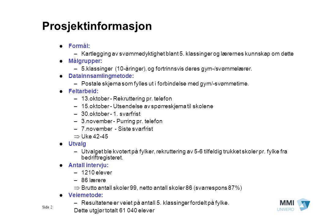 Prosjektinformasjon Formål: