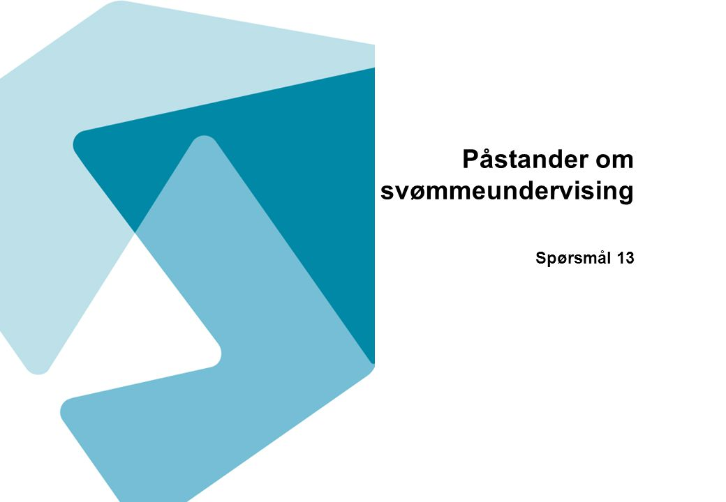 Påstander om svømmeundervising