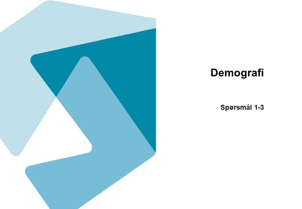 Demografi Spørsmål 1-3