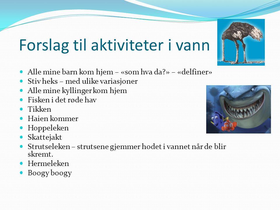 Forslag til aktiviteter i vann