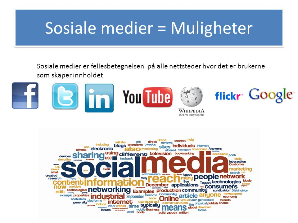 Sosiale medier = Muligheter