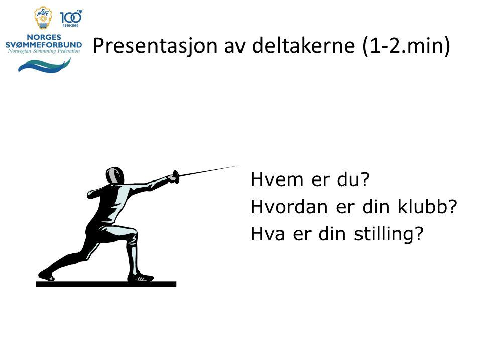 Presentasjon av deltakerne (1-2.min)