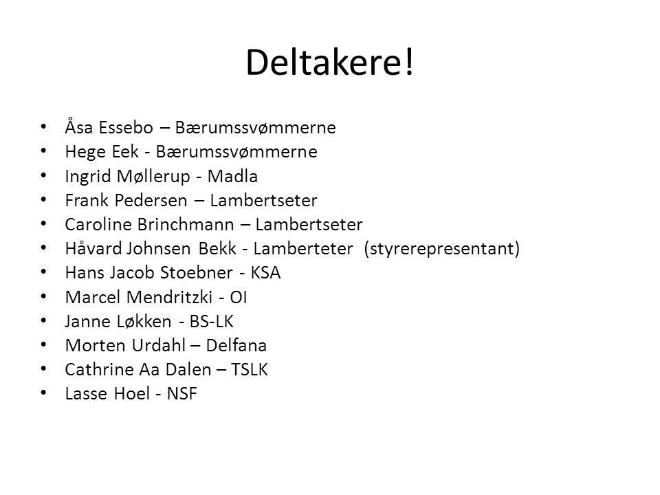 Deltakere! Åsa Essebo – Bærumssvømmerne Hege Eek - Bærumssvømmerne