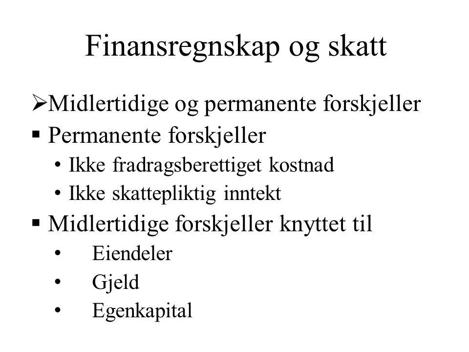 Finansregnskap og skatt